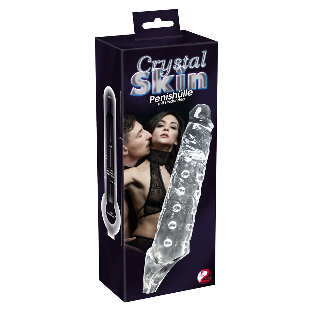 Gaine à Pénis Crystal Skin Ball Strap