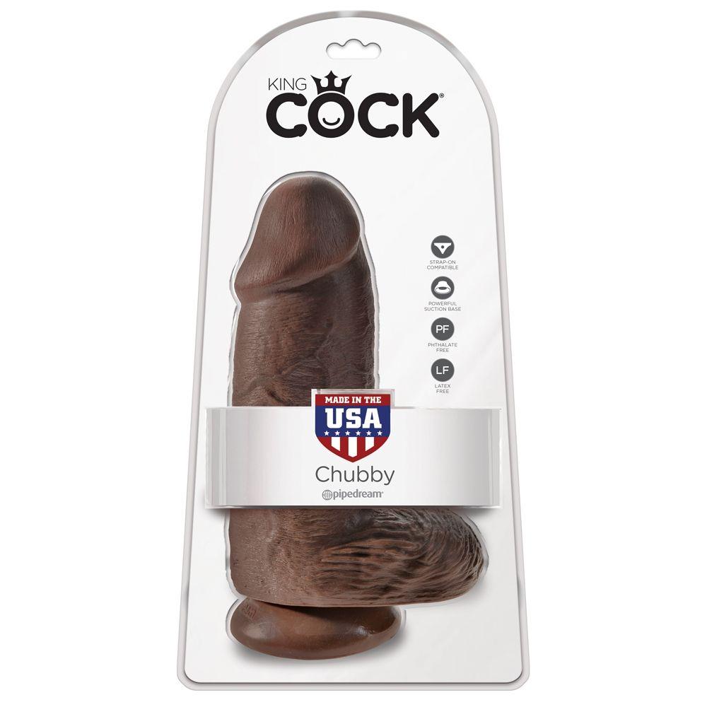 Dildo avec Testicules 22,9 cm Chubby King Cock
