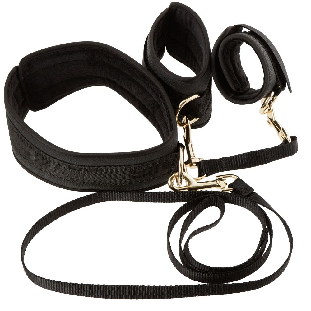 Kit Bondage Restraint Set Noir & Doré
