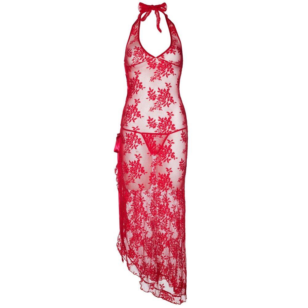 Robe Florale et Lacets Rouge