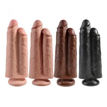 Double Dildo 22,9 cm Two Cocks One Hole King Cock