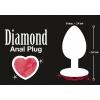 Plug Anal en Métal Diamond Medium