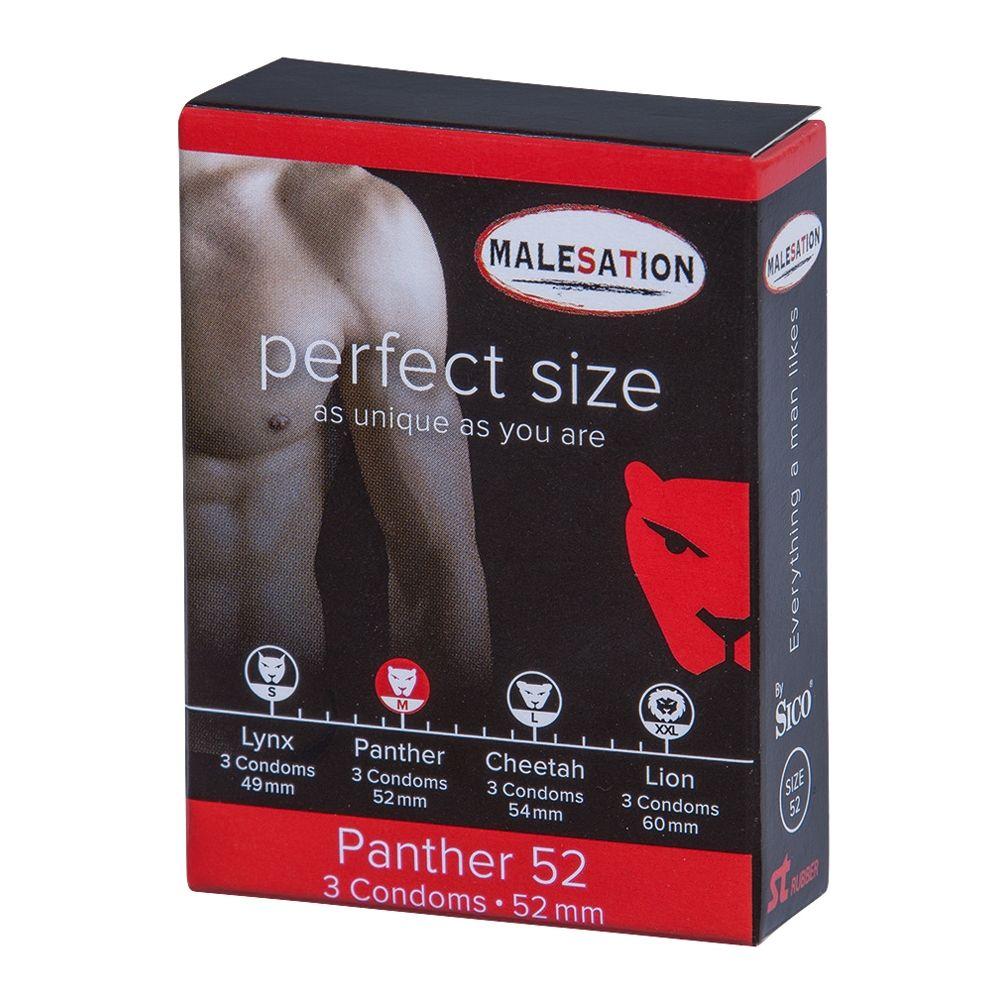 Préservatifs Perfect Size 52 Panthère Boîte de 3