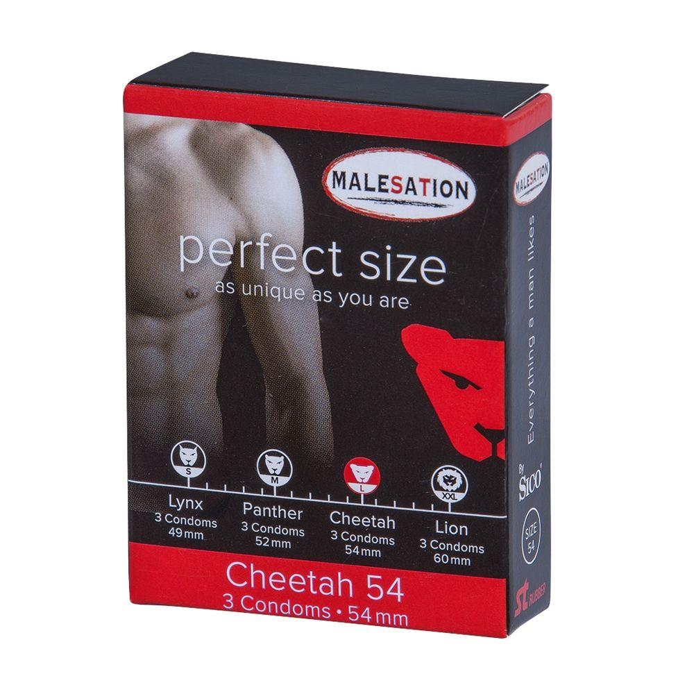 Préservatifs Perfect Size 54 Guépard Boîte de 3