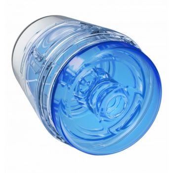 Masturbateur Mini Main Squeeze POP-OFF Optix Crystal Bleu