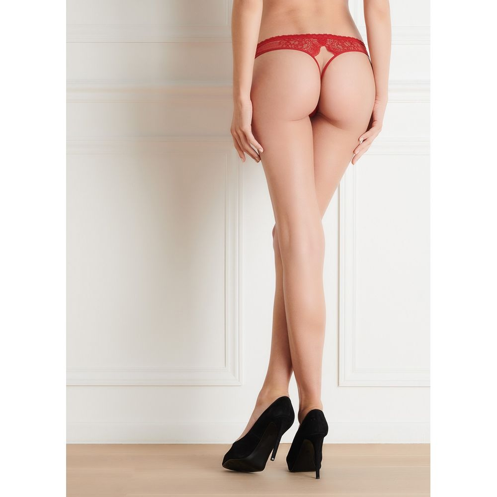Maison Close La Directrice Rouge String Ouvrable