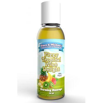 Huile de Massage Chauffante Gourmande Fruits Exotiques & Vin Pétillant 50 ml