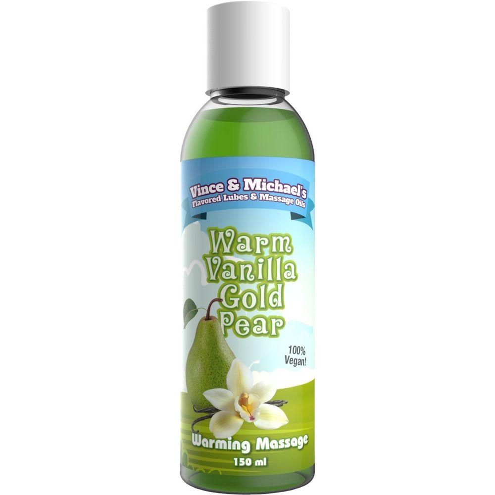 Huile de Massage Chauffante Gourmande Vanille & Poire 150 ml