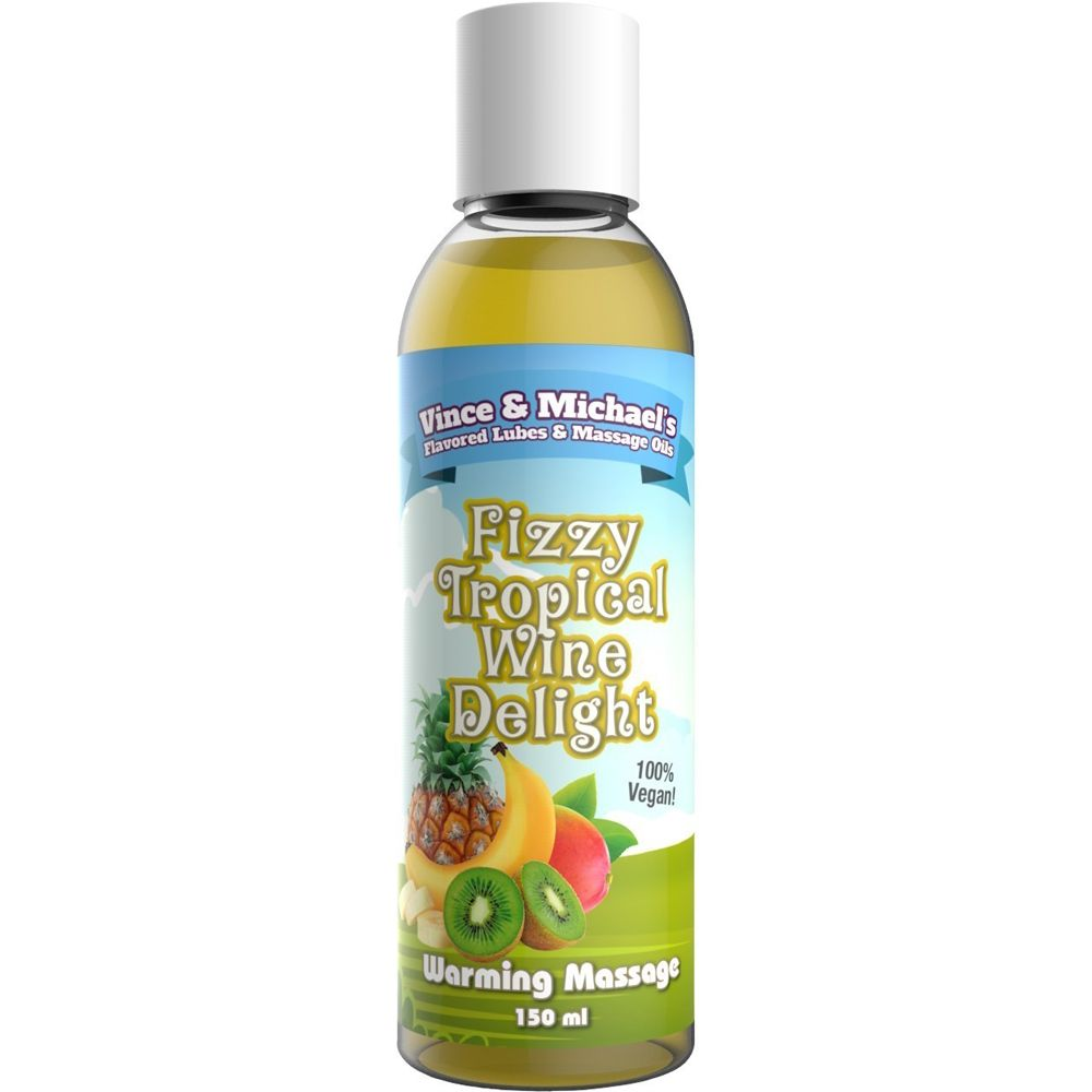 Huile de Massage Chauffante Gourmande Fruits Exotiques & Vin Pétillant 150 ml