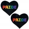 Caches-Seins Love Coeur Noir Pride