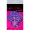 Caches-Seins Glitter Coquillage Violet et Rose