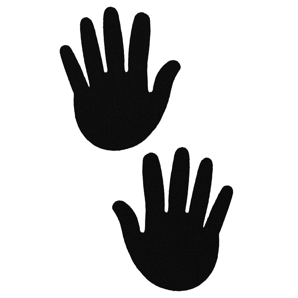 Caches-Seins Mains Noir