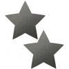 Caches-Seins Réfléchissant Étoile Gris Métallisé
