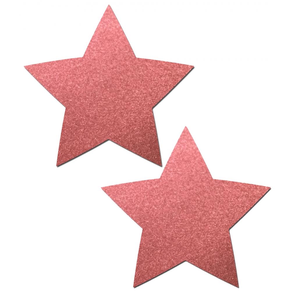 Caches-Seins Réfléchissant Étoile Rouge
