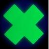 Caches-Seins Croix Vert Fluo