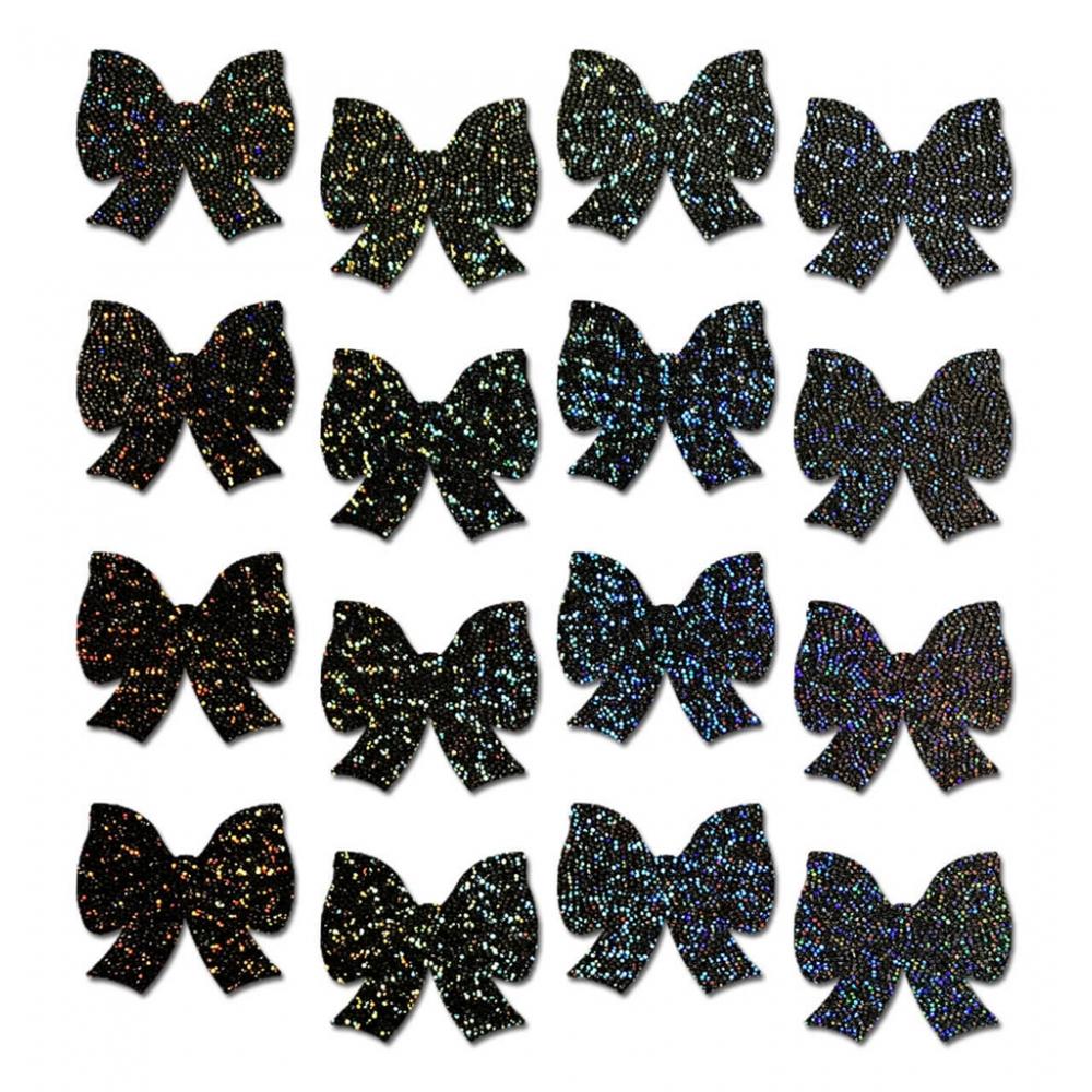 Autocollants Body Minis Glitter Nœud Noir