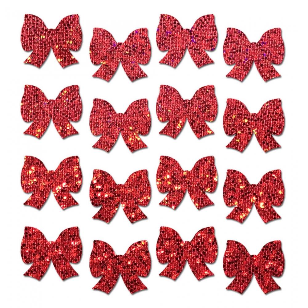 Autocollants Body Minis Glitter Nœud Rouge