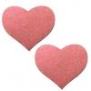Caches-Seins Réfléchissant Cœur Rouge