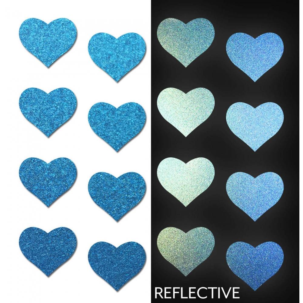 Autocollants Réfléchissants Body Minis Coeur Bleu