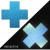 Caches-Seins Réfléchissant Croix Bleu