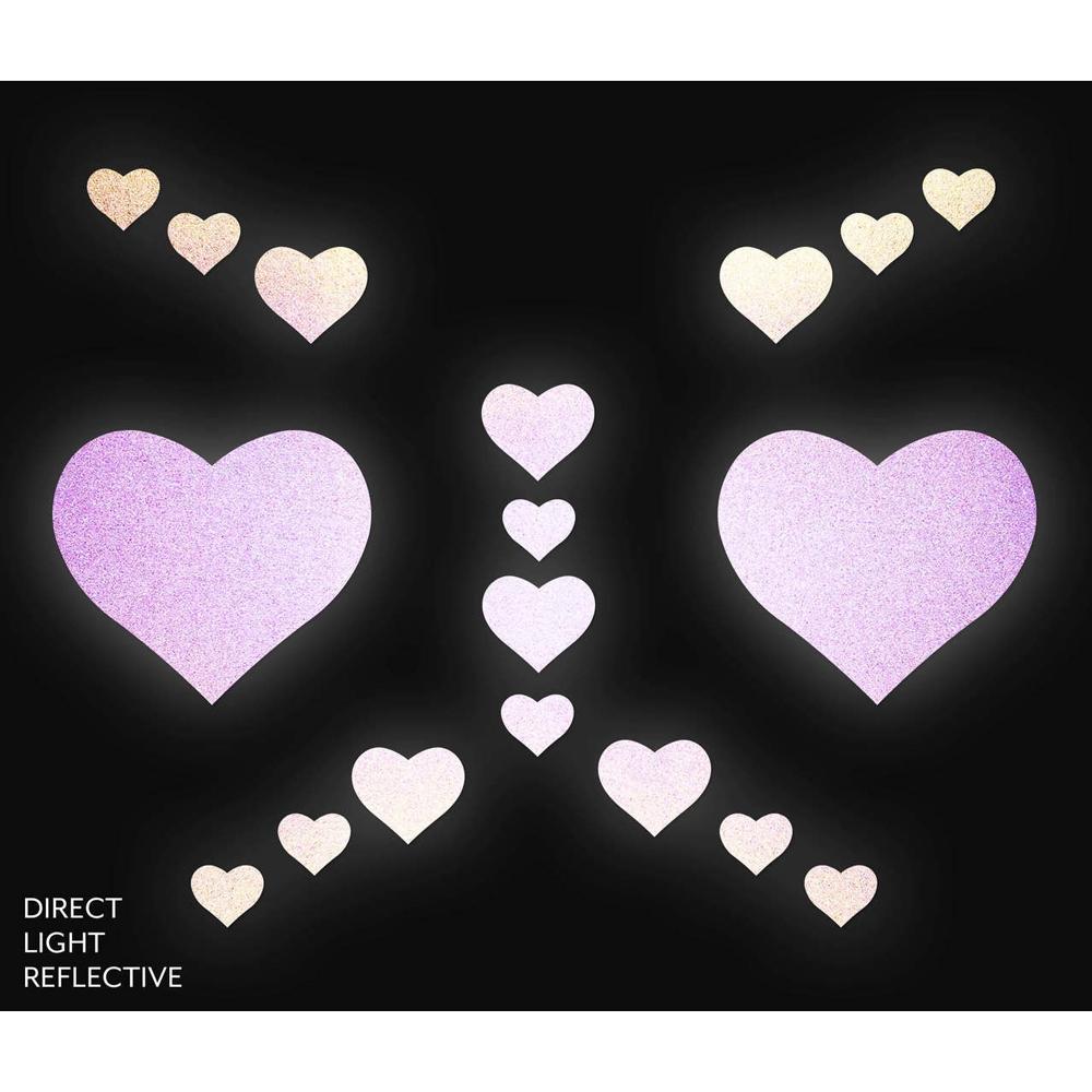Kit Body Art Réfléchissant Coeur Rouge