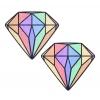 Caches-Seins Diamant Arc-En-Ciel Pastel