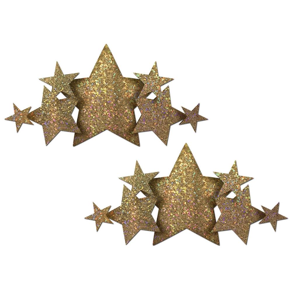 Autocollants Demi Set Glitter Étoile Dorée