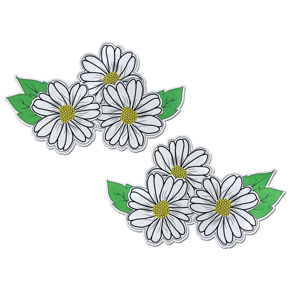 Autocollants Demi Set Fleur Blanche Noire et Jaune