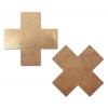 Caches-Seins Croix Rose Gold