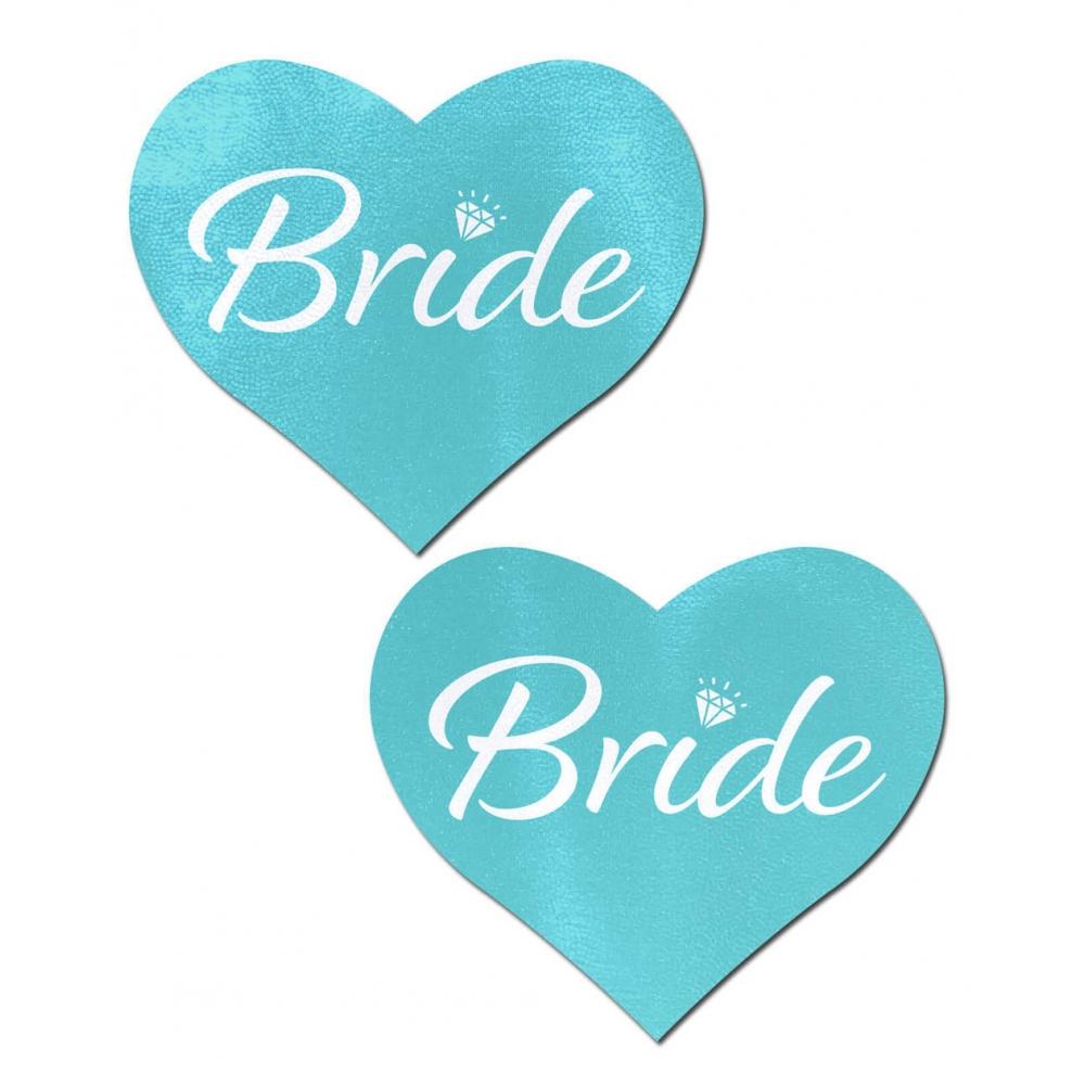 Caches-Seins Coeur Bride Bleu
