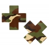 Caches-Seins Croix Camouflage