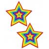 Caches-Seins Love Étoile Arc-En-Ciel