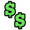Caches-Seins Glitter Dollar Doré