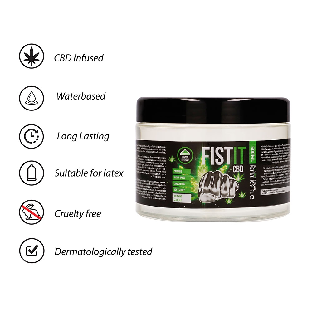 Lubrifiant Fisting CBD Infused 500 ml