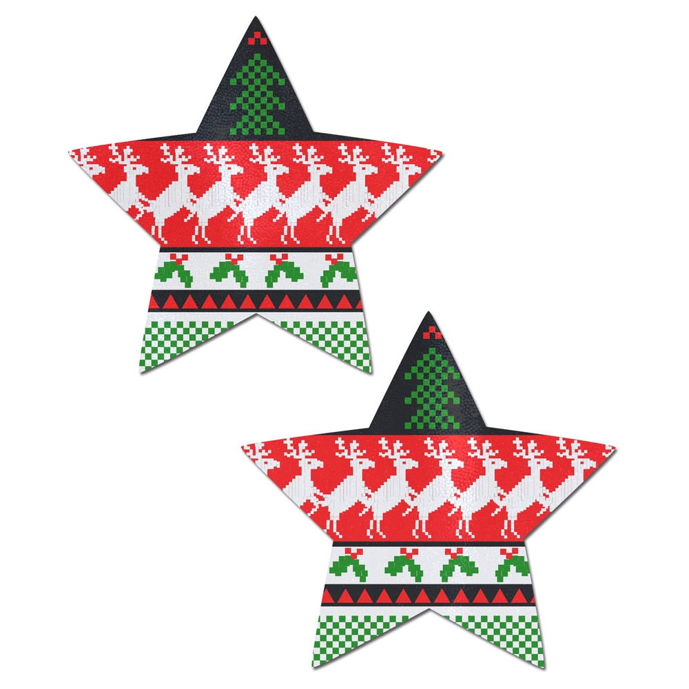Caches-Seins Étoile Pull-Over de Noël