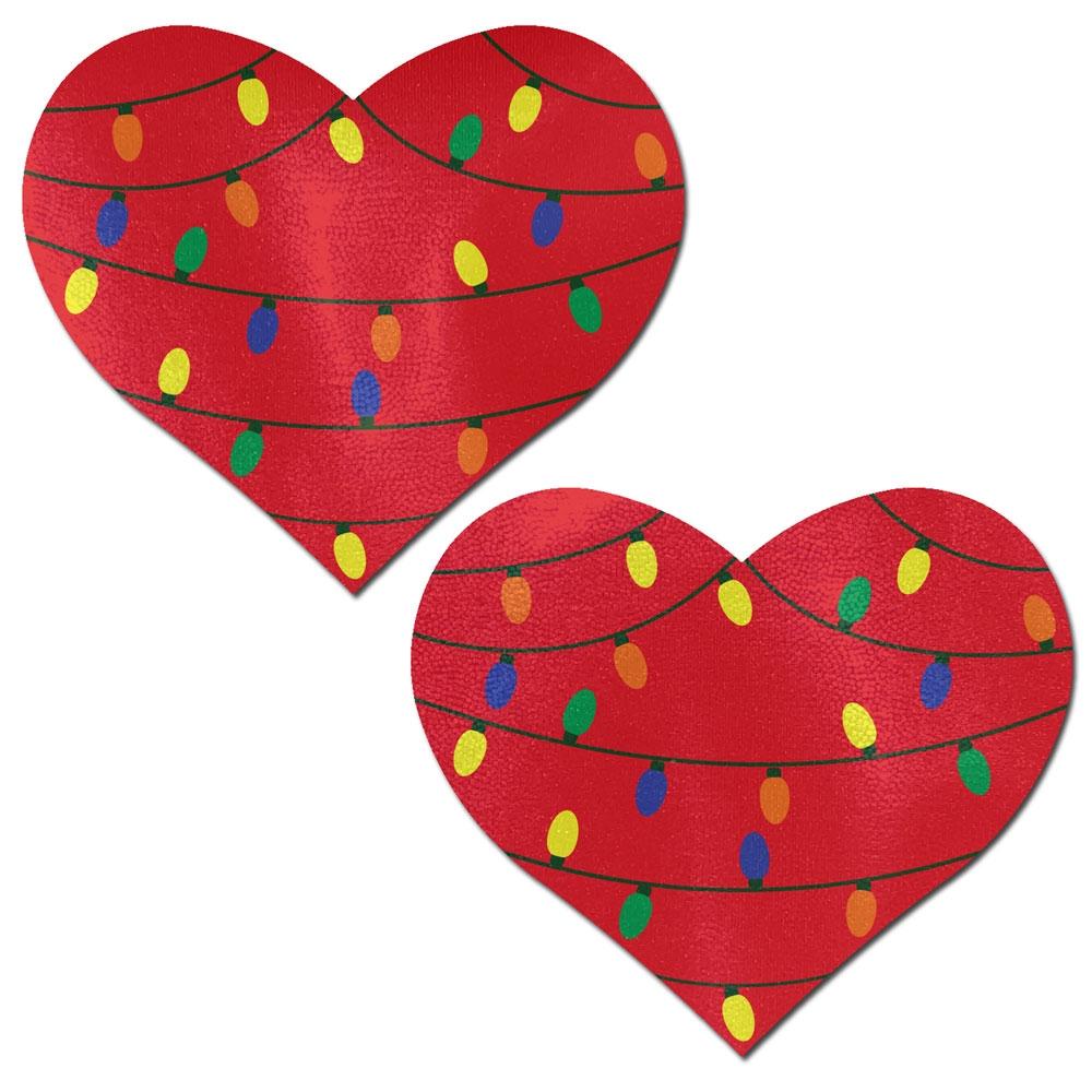 Caches-Seins Coeur & Guirlandes de Noël