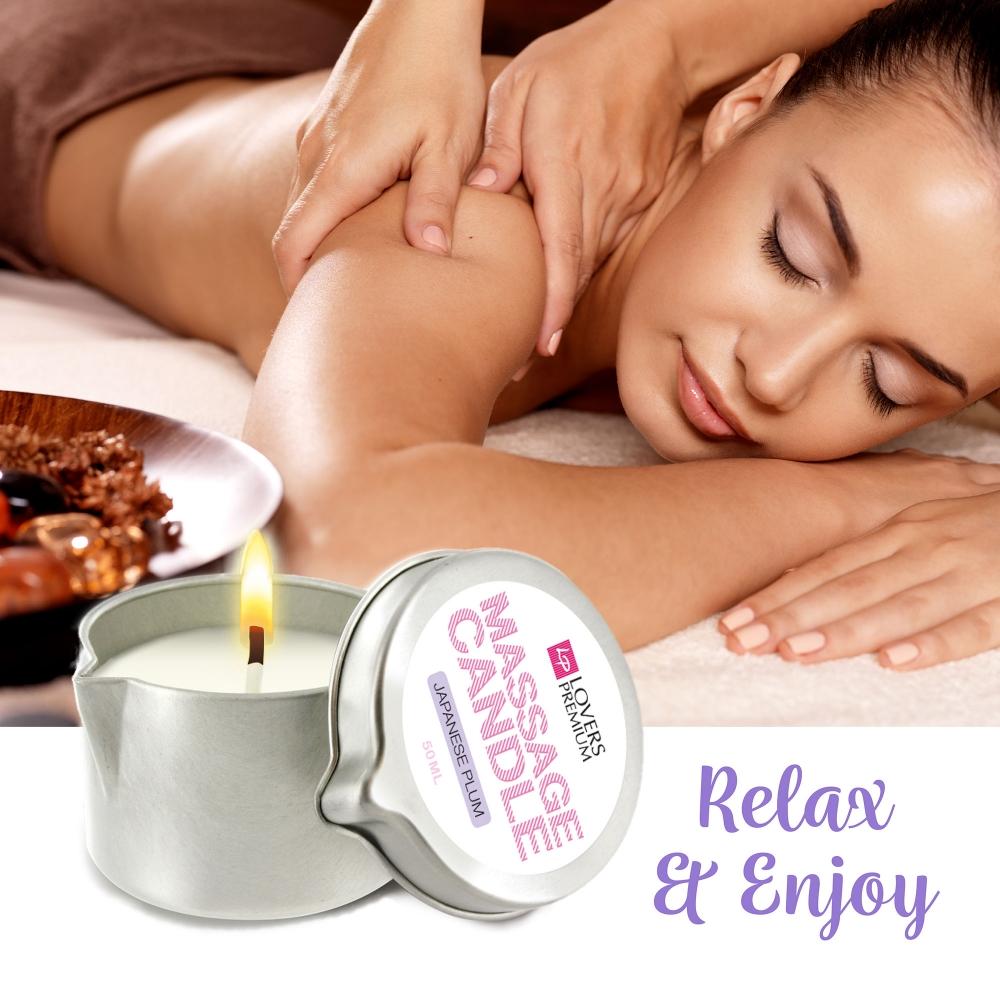 Bougie de Massage Mini Prune Japonaise