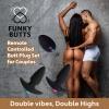 Kit de 2 Plugs Anal Vibrants Télécommandés pour Couple FunkyButts