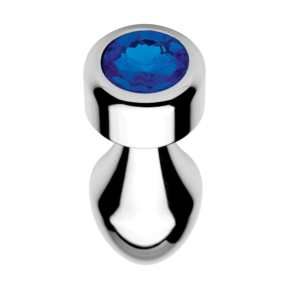 Plug Anal Métal Weighted Bijou Blue Gem Small