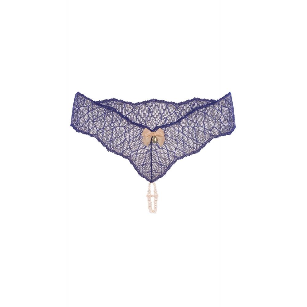 String Sydney Double Perles Bleu
