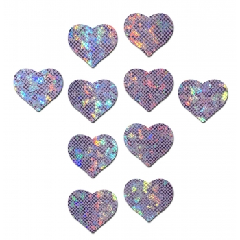 10 Body Minis Coeurs Disco Violets