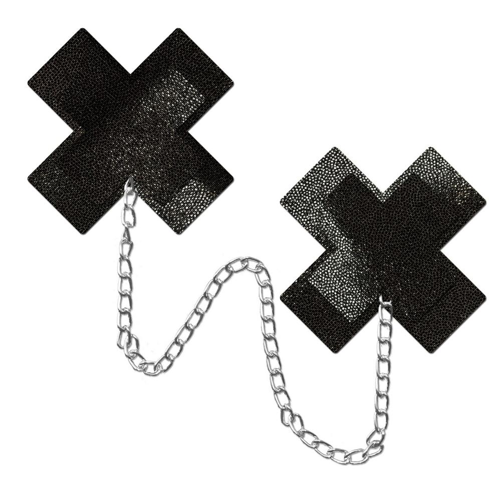 Caches-Tétons Plus X & Chaîne Noirs