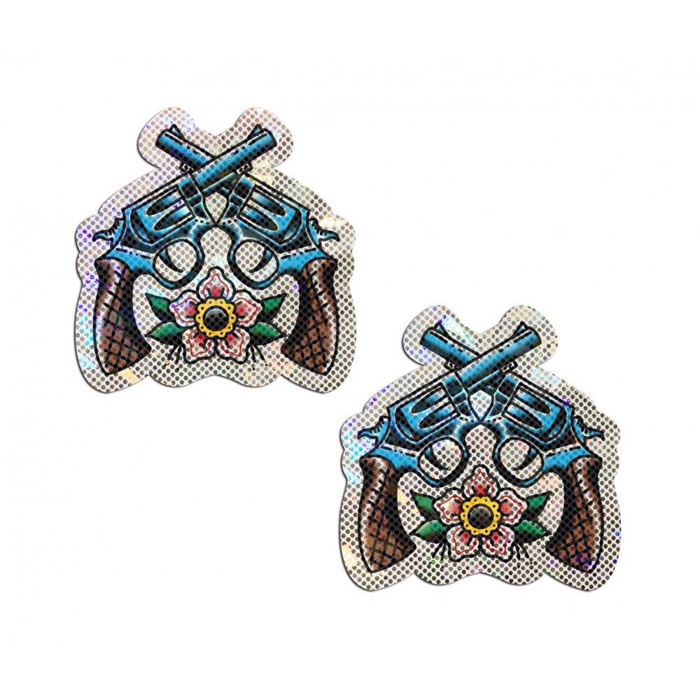 Caches-Tétons Pistolets Brillants Diamants