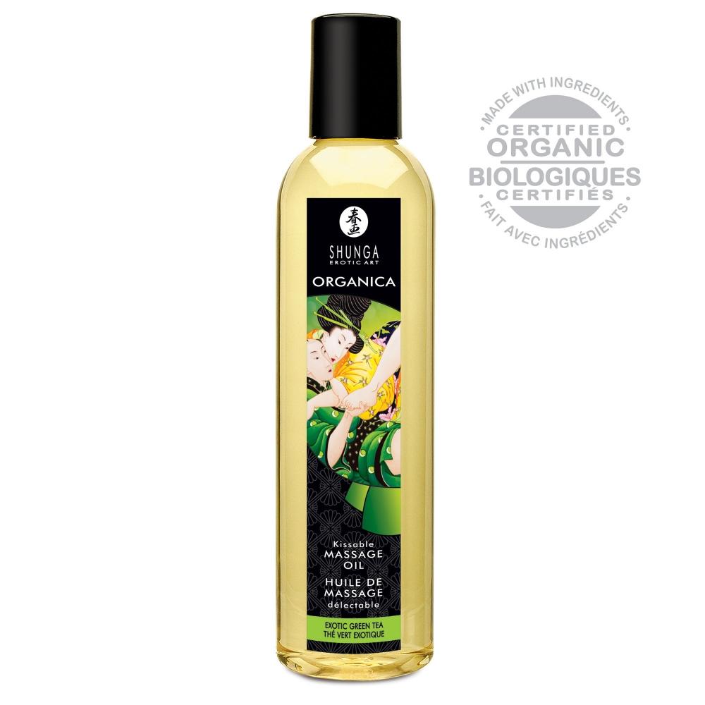 Huile de Massage Délectable Organica Thé Vert Exotique Bio