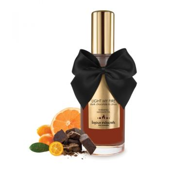 Huile de Massage Embrassable Chauffante Chocolat Noir