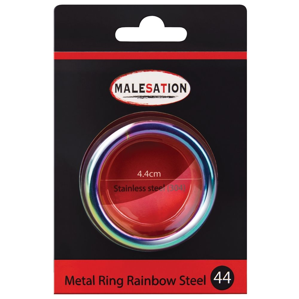 Cockring Metal Ring Rainbow Steel 4,4 cm
