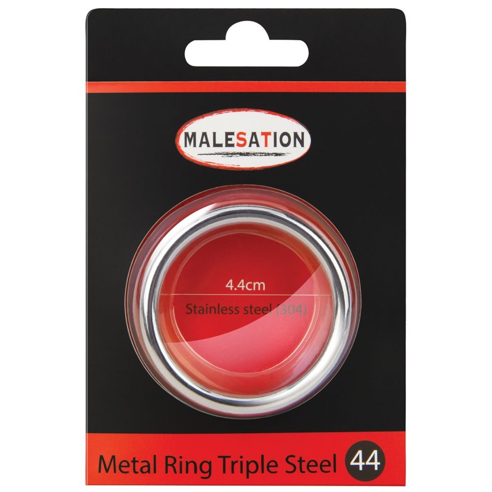 Cockring Metal Ring Triple Steel 4,4 cm