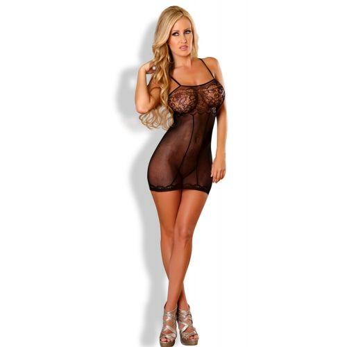 Nuisette Sexy Transparente Noire