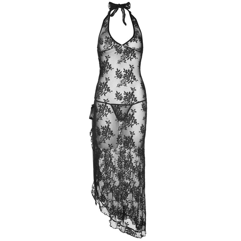 Robe Florale et Lacets Noire