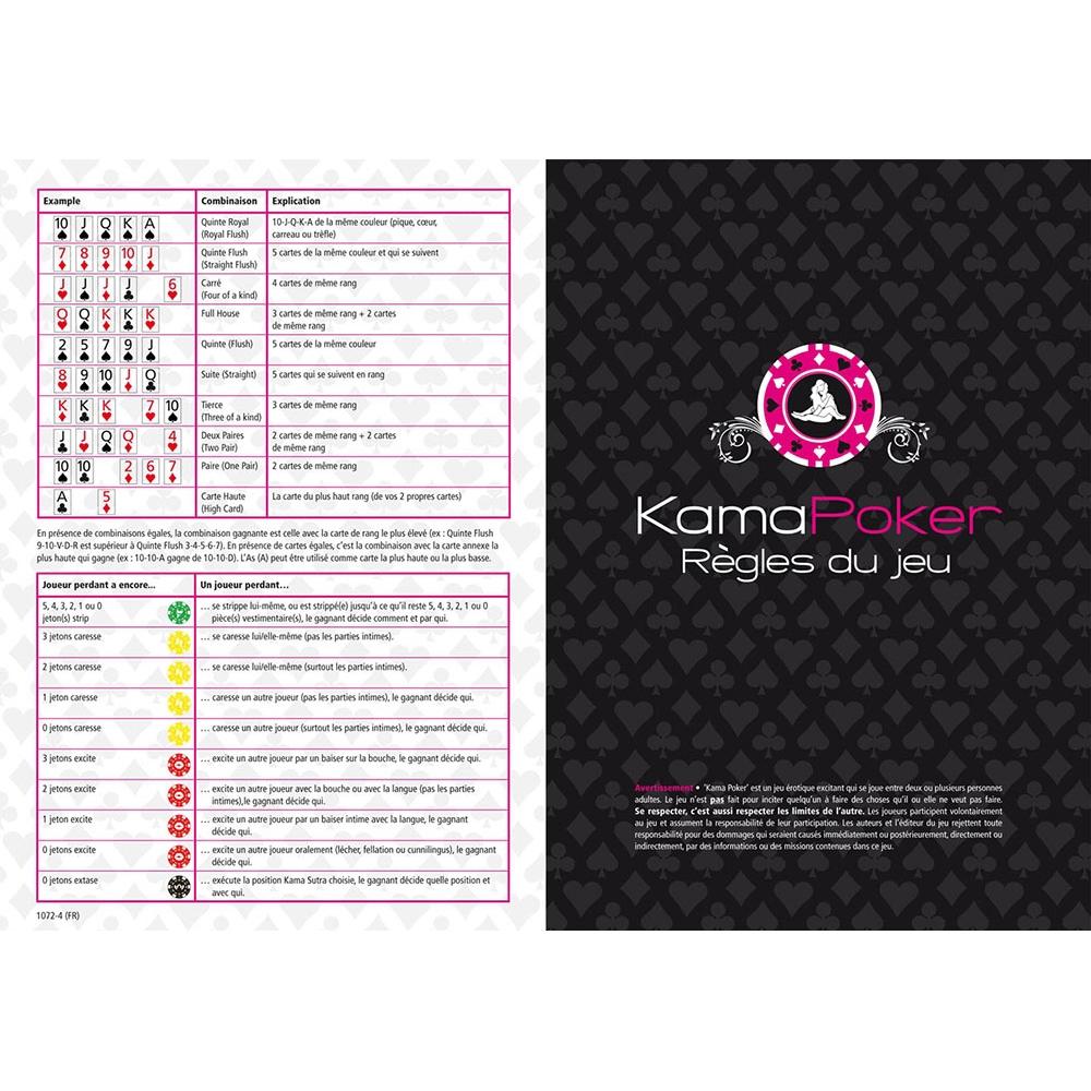 Jeu Coquin Kama Sutra Poker Game
